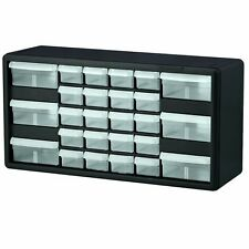 Storage Organizer Cabinet 26 Clear Plastic Drawer Boxes Parts Container Bin Toy