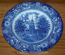 STAFFORDSHIRE ENGLAND LIBERTY BLUE IRONSTONE DINNER PLATE '78 INDEPENDENCE HALL