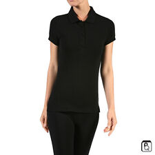 Womens Classic Jersey Polo Shirt Top Short Sleeves Tee S-3XL