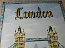 UNITED AIRLINE LONDON TRAVEL POSTER 2004 TIM ZELTNER ORIGINAL UAL ISSUE NEW MINT