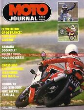 MOTO JOURNAL  656 Road Test YAMAHA 500 RDLC RD LC HONDA XR 250 350 GP France 84