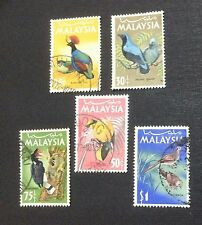Malaysia 1965 National Bird Series 5v Used