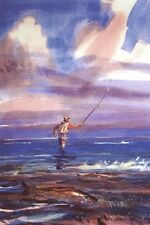 EVENING REDS - Great Redfish Flyfishing Giclee Print Texas Gulf Coast - Caldwell