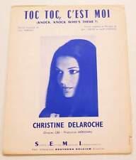 Partition vintage sheet music CHRISTINE DELAROCHE : Toc Toc, c'est Moi * 70's