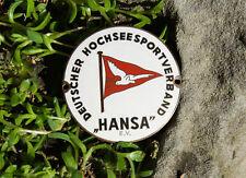 SCHÖNE ALTE AUTO EMAILLE PLAKETTE # DEUTSCHER HOCHSEESPORTVERBAND HANSA E.V.