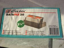 """Ufficio di dati file di dati 20 Non Utilizzato Sigillato contenitore in plastica per 20 3.5"""" floppy disk"""