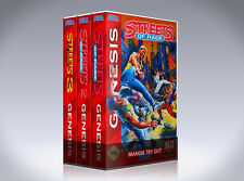 NEW custom video game storage cases STREETS OF RAGE 1, 2, 3 TRILOGY  -No Game-