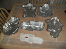 5 Wilton Cake Pans Disney Cars McQueen Donald Duck Pooh Barney Care Bears
