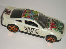 Hot Wheels WHITE ZOMBIE 2010 Ford MUSTANG SHELBY GT 500 custom car