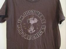 PEANUTS Snoopy Men's sz S Brown Short Sleeve 100% Cotton graphic tee