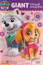 """New Paw Patrol GIANT Coloring & Activity Skye & Forest 24 Pages 16""""x11"""""""