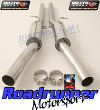 AUDI RS6 C5 V8 02-04 MILLTEK EXHAUST STAINLESS RESONATED CENTRE SILENCER BOXES