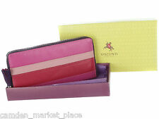Visconti Women Wallet Purse Genuine Original Leather Clutch Clutches Verry Berry