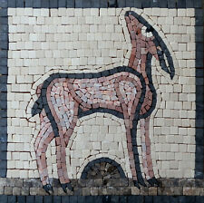 Roman style mosaic kit in stone Standing Deer by Martin Cheek with tile nippers