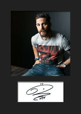 TOM HARDY #2 A5 Signed Mounted Photo Print (Reprint) - FREE DELIVERY