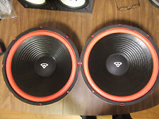 "New Pair of 15"" Vintage Cerwin Vega style replacement woofers w/ red surround"