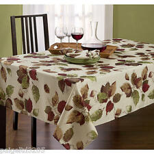 Essential Home Oblong TableCloth Maxfield - Leaf Print / 60x102""