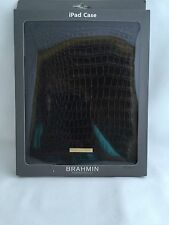 Authentic NWT Brahmin For Apple iPad Case Cover Black Melbourne Leather