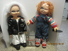 "Bride of Chucky Collectors  26"" Tiffany Plush Doll & 26' Chucky Doll & DVD SET"