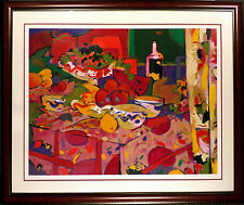 """Manel Anoro """"Mesa Con Frutas"""" Hand Signed Serigraph with New Frame, still life"""