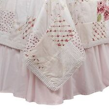 Simply Shabby Chic Pink Ruffled TWIN  Bedskirt  Cotton  Cottage