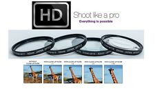 Close-Up Set 4-Pcs Hi Def Macro Lens Kit +1 +2 +4 +10 For Canon EOS M3