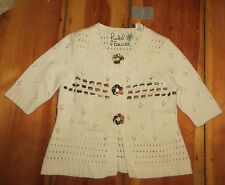 Field Flower Anthropologie Winter Song Cardigan M Yarn Trim Sweater 2008 NWT