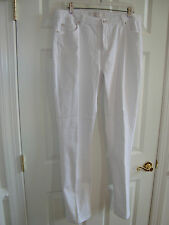 Badgley Mischka American Glamour White Cotton/Spandex Stretch Jeans 16 EUC