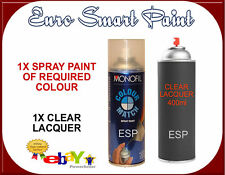 SPRAY PAINT MIXED TO YOUR CODE + LACQUER 400ML HIGH QUALITY GERMAN PAINT