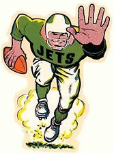 NEW YORK JETS   NFL Football    Vintage Style 1960's  Travel Decal Sticker Label