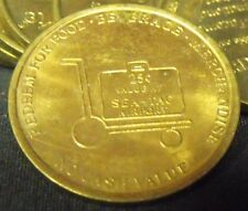 One 25c Seattle-Tacoma Airport Smarte Carte Token, Brass, Circulated