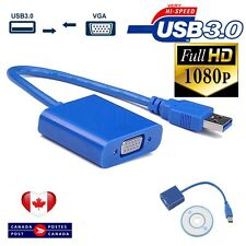 USB 3.0/2.0 to VGA Multi-display Converter External Video Graphic Card Adapter