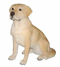 Real Life Like Size Golden Labrador Dog Statue Garden Patio Home Outdoor Decor