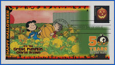 Halloween Jack O' Lanterns First Day Cover Charlie Brown Great Pumpkin 2016 #611