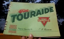Vintage 1939 Conoco Touraide Gasoline Oil Book W/ Old Auto Maps Signs Duluth MN