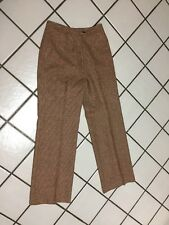 "VTG GORDON of PHILADELPHIA  Rust Check wool Tweed Trouser  Dress Pants_26"" Waist"