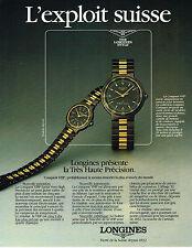 PUBLICITE ADVERTISING 084  1984  LONGINES  montre CONQUEST VHP