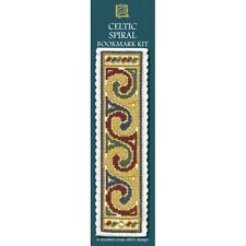 Counted Cross Stitch Bookmark Kit - Textile Heritage Gold Celtic Spiral BKCSC