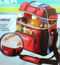 COLEMAN 9 CAN COOLER REMOVABLE HARD LINER W/ BUNGEE CORD RED