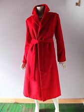 Ruby Red Cashmere Full Length Trench Coat Duster Jacket sz 16 18 PINK LADY NWT