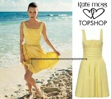 Kate Moss Topshop Iconic Buttercup Yellow 50s Flippy Tea Dress Vtg Début 10 6 38
