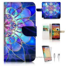 Samsung Galaxy Note 4 Flip Wallet Case Cover! S8274 Abstract