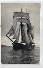 Picture postcard of a sailing ship on the Clyde (C15844)