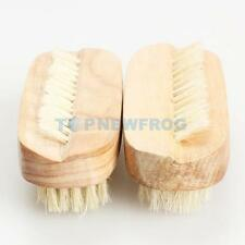 2PCS Nail Art Trimming Brush Wooden Manicure Files Cleaning Scrubbing Tool