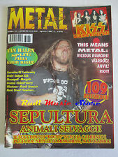 rivista METAL SHOCK 221-222/1996 Sepultura Kiss Skunk Anansie Whatever Riot Nocd