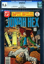 JONAH HEX #1 CGC 9.6 1977 White Pages!