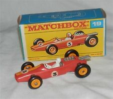 1960s.Lesney,Matchbox.19.ORANGE Lotus Racing Car.INDY.F1.Mint in F box.original