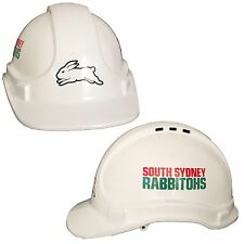 South Sydney Rabbitohs NRL Light Weight Vented Safety Hard Hat Work Man Cave