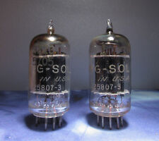 Tung-Sol 5687 Vacuum Tubes Used Black Plate Test Close Strong Lot of 2