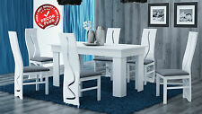 Large White Dining Table Bistro Kitchen  160x80x75  Furniture NEW